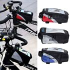 Waterproof Sport Cycling Bicycle Front Frame Pannier Tube Bags for Mobile Phone