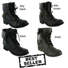 NEW LADIES MILITARY COMBAT ARMY WORKER BOOTS SIZE 3-8