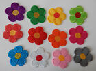Flower patches > iron-on or sew-on > very pretty! Lots of colours.