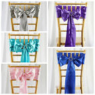 125 Satin CHAIR SASHES Bows Ties Wedding Party Reception Decorations Wholesale