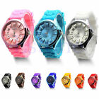 Hot Unisex Men Women Stylish Silicone Quartz Sport Geneva Jelly Wrist Watch