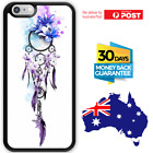 TPU Shockproof Bumper Case Cover purple blue dream catcher flower white painting