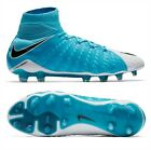 Nike Hypervenom Phantom III DF FG Mens Soccer Cleats Blue 860643-104 Size 6-13