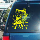 Walleye Fish with Splashes Vinyl Decal - fits cars, windows & flat surfaces K680