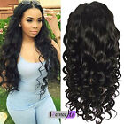 Soft Wavy 100% Human Hair Full * Front Lace Wigs with Baby Hair For Black Women