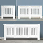 Painted Radiator Cover Cabinet Vertical Modern Style Slats White MDF Range Sizes
