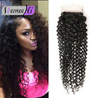8A Brazilian Kinky Curly Human Hair Lace Closure 8-22 inch 4x4 Free Part Style