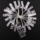 20LED Wireless Photo Window Hanging Peg Clip String Light Lamp Fairy Decoration