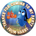 FINDING DORY PERSONALISED GLOSS BIRTHDAY PARTY SWEET CONE STICKERS 4 SIZES