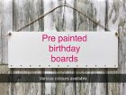 31x10cm Pre Painted coloured Medite MDF Birthday boards sign craft plaques