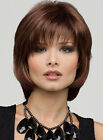 Pretty Short Wavy With Bang Mix Brown True Human Hair Wigs About 12 Inches