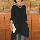 Summer Fashion Women Tops Casual Blouse Loose T-shirt Long Sleeve Tee Plus Size