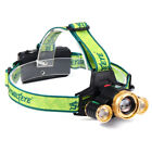 30000 Lumen Headlamp XM-L 3x T6 LED Headlight 18650 Light Charger Battery&