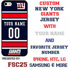 New York Giants NFL Phone Case Cover for iPhone 7 PLUS iPhone 6s iPhone 5 etc.
