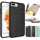 New Slim Sleek Case with ID Credit Card Holder Cover For Apple iPhone 6/7/8 Plus