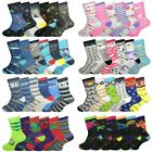 6 Pairs Girls Boys Novelty Character Socks Childrens Kids Funky Designs