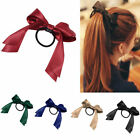Women Multicolor Satin Ribbon Bow Hair Band Rope Scrunchie Ponytail Holder
