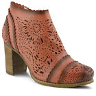 New L'Artiste BAO-RD Women's Red Leather Ankle Boots