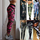 Women Camouflage Sports Yoga Workout Gym Fitness Leggings Stretch Pants Trousers