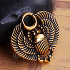 Egyptian Scarab Beetle Antiqued Gold Plated Charms C6601 - 5, 10 or 20PCs