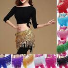 Colourful Shiny Coins Belly Dancing Dancer Skirt Belt Hip Scarf Wrap Costume