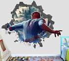 Spiderman Homecoming Smashed Wall Decal 3D Sticker Decor Vinyl Smash Marvel OP08