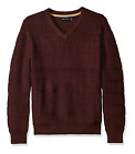 Nautica Shipwreck Burgundy Heather Classic V-neck Pullover Sweater NWT