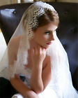 New White/ivory 3M Long 1T Wedding Lace Edge Veil With Comb Bridal Veils