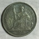 1906 FRENCH INDO CHINA 1 PIASTRE CROWN COIN