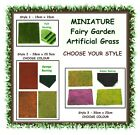 Fairy garden artificial grass - CHOOSE YOUR STYLE - miniature terrarium foliage