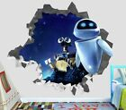 Walle Wall-e 2 Eve Wall Decal 3d Smashed Decor Sticker Vinyl Smash Movie Op34