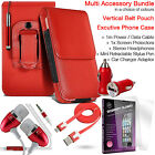 Quality Vertical Belt Pouch Phone Protection Case Cover✔Accessory Pack✔Red günstig
