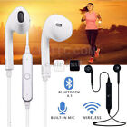 Wireless Bluetooth v4.1 Headphones Mic Headset In-Ear Sports Stereo For iPhone 7