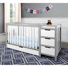 Graco Remi 4-in-1 Convertible Crib n Changer Combo White
