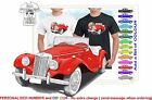 CLASSIC 53-55 MG TF SPORTS ILLUSTRATED T-SHIRT MUSCLE RETRO SPORTS CAR