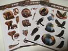Amy Design Wild Animals Jungle A4 3D Die Cut Decoupage Sheet Various Designs