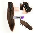 """Long 24"""" 135g ponytail extensions 100% remy human hair claw clip real human hair"""