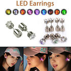 1Pair LED Glowing Light Up Bling Ear Studs Dance Party Jewelry Earring Accessory