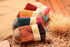 NEW Women's Retro Rabbits Wool Cotton Warm Patchwork Ankle Socks Size 5-9 NWT