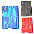 Hot Multi Purpose 10 in 1 Pocket Credit Card Survival Outdoor Camping Tool US