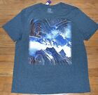 Apt 9  Graphic Tee Men's Knit Short Sleeve T-Shirt Crew Neck Galaxy Mountain