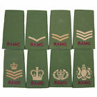 RAMC ROYAL ARMY MEDICAL CORPS OLIVE PCS BRITISH ARMY RANK SLIDES-SOLD IN PAIRS