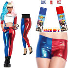 Womens Ladies Suicide Squad Party Harley Quinn Costume Shorts Leggings Sprays