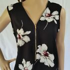 Gorgeous White Poppy OFFICE WEAR Top NEW Dressy Work Blouse Size 10 12 14 16