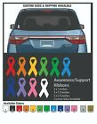 Awareness Support Ribbon Cancer Variety Of Colors Vinyl Decal Sticker Car Window