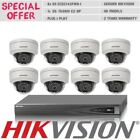 8CH Hikvision IP Security System Camera Kit 4MP Dome Bundle 8x DS-2CD2142FWD-I