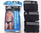 Men's adidas Climalite Athletic Stretch 3-Pack Black Sport Briefs Underwear $28