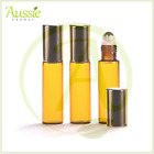 5ml Tall Amber Glass Roll-On Bottle With Steel Roller & Gold Cap