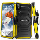 iPhone X Case, Evocel Rugged Dual Layer Holster Case w/ Kickstand & Clip