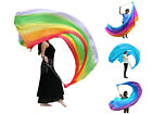 1pc 23m09m90x35 light 5 Mommes belly dance silk veil poi steel chain